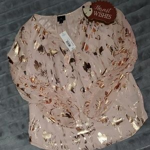 Pink & Gold Long Sleeve Blouse